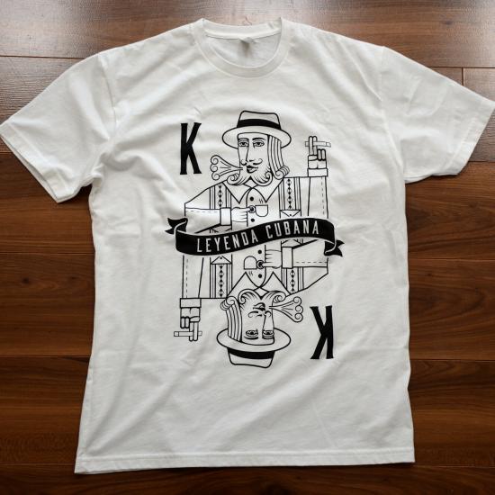 Leyenda Cubana King White T-Shirt