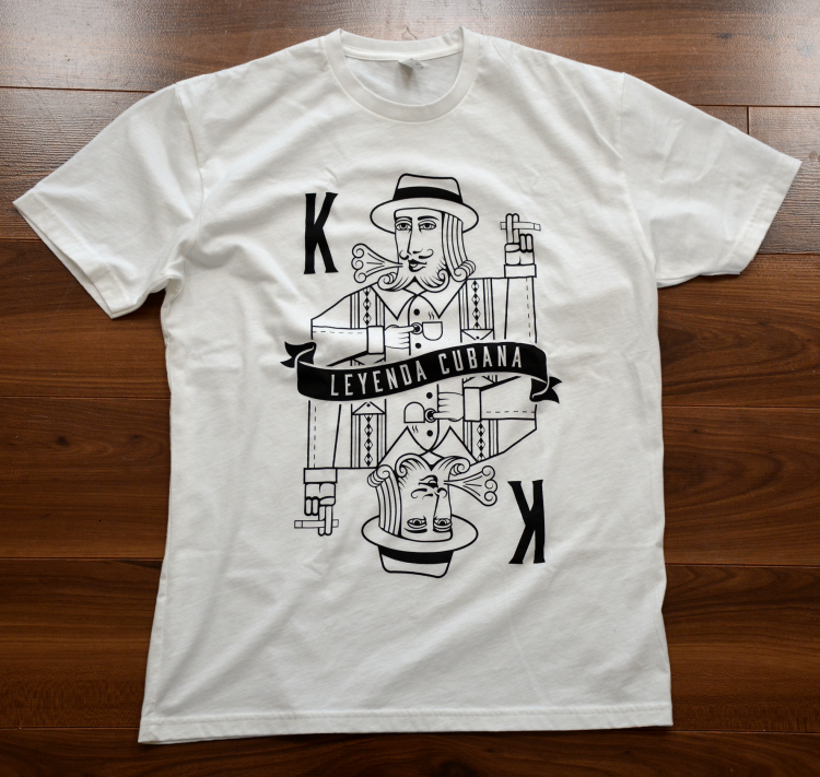 Leyenda Cubana King White T-Shirt